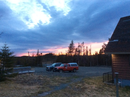 sunset at base camp (a comfy cabin)