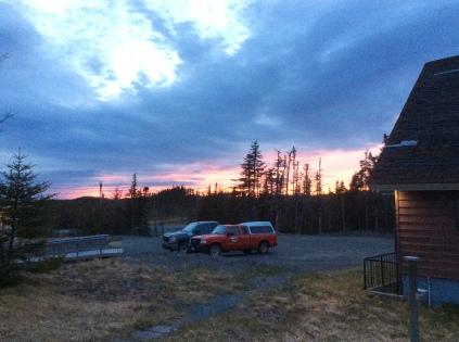 sunset at base camp (a comfy cabin)